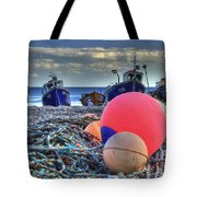 Boats On The Beach At Beer Tote Bag