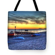 Boats On The Beach At Branscombe  Tote Bag