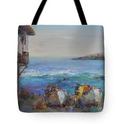 Boats On The Cost Tote Bag