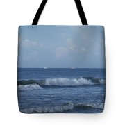 Boats On The Horizon Tote Bag