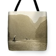 Boats On The River Tam Coc No1 Tote Bag