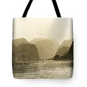Boats On The River Tam Coc No2 Tote Bag