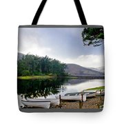 Boats On The Shore. Tote Bag
