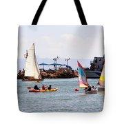 Boats Race Tote Bag