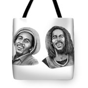 Bob And Bob Marley Tote Bag