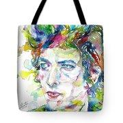 Bob Dylan - Watercolor Portrait.19 Tote Bag