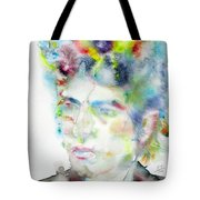 Bob Dylan - Watercolor Portrait.4 Tote Bag