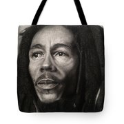 Bob Marley Drawing Tote Bag