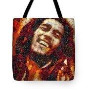 Bob Marley Vegged Out Tote Bag
