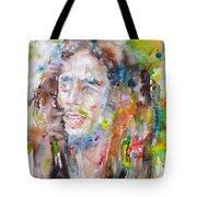 Bob Marley - Watercolor Portrait.17 Tote Bag