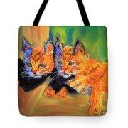 Bobcat Kittens 1 Tote Bag