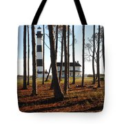 Bodie Island Light Through The Pines Tote Bag