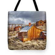 Bodie Stamp Mill, Sunrise With A Dusting Of Snow Tote Bag