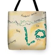 Body Prints Foundation Of Love Tote Bag