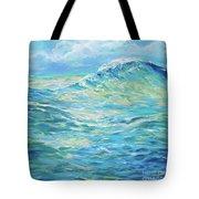 Bodysurfing Rolling Wave Tote Bag