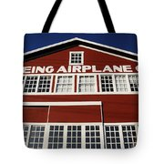 Boeing Airplane Hanger Number One Tote Bag