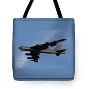 Boeing B-52 Stratofortress Taking Off From Tinker Air Force Base Oklahoma With Quadruple Border Tote Bag