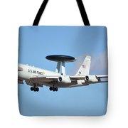 Boeing E-3b 71-1407 Sentry Phoenix Sky Harbor January 9 2015 Tote Bag