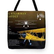 Boeing Stearman N2s Kaydet Tote Bag