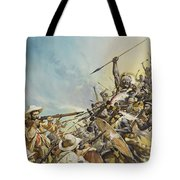 Boers Fighting Natives Tote Bag