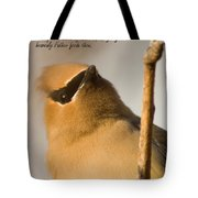 Bohemian Waxwing Tote Bag