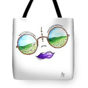 Boho Gypsy Daisy Field Sunglasses Reflection Design From The Aroon Melane 2014 Collection By Madart Tote Bag