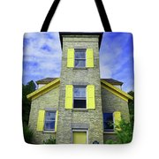 Bois Blanc Island Historic Lighthouse Tote Bag by Sally Sperry