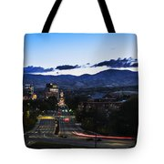 Boise Skyline In Early Morning Hours Tote Bag