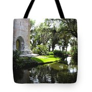 Bok Tower With Moat Tote Bag