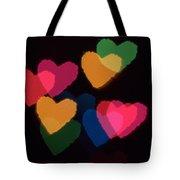 Bokeh Hearts 3 Tote Bag