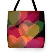 Bokeh Hearts 4 Tote Bag