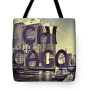 Bold Chicago Tote Bag