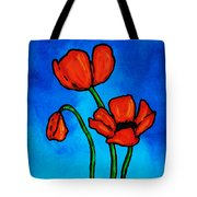 Bold Red Poppies - Colorful Flowers Art Tote Bag