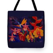 Bold Tropical Flowers Tote Bag