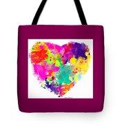Bold Watercolor Heart - Digital Art Tote Bag