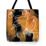 Bold White Lines Two Tote Bag