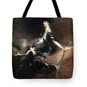 Boldini Giovanni Consuelo Duchess Of Marlborough With Her Son Ivor Spencer Churchill Giovanni Boldini Tote Bag