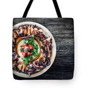 Bolied Octopus In Spicy Sauce Tapas Starter Tote Bag