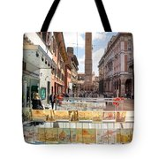 Bologna Artworks Of The City Hanging In  Tote Bag