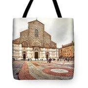 Bologna, Italy San Petronio Basilica Facade Crescentone Tote Bag