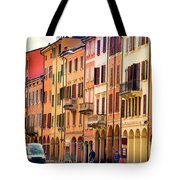 Bologna Window Balcony Texture Colorful Italy Buildings Tote Bag