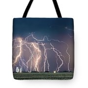 Bolts Over Bushland Tote Bag