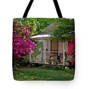 Bon Secour Pink Porch Tote Bag