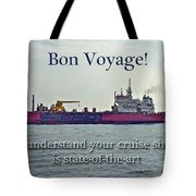 Bon Voyage Greeting Card - Enjoy Your Cruise Tote Bag