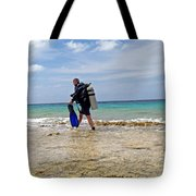 Bonaire Shore Diving 3 Tote Bag