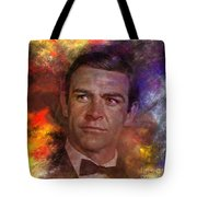 Bond - James Bond - Square Version Tote Bag by John Robert Beck