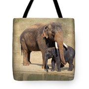 Bonding - Asian Elephants Houston Zoo Tote Bag