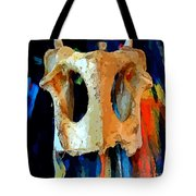 Bone And Paint Abstract Tote Bag