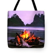 Bonfire On The Beach, Point Of The Tote Bag