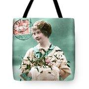 Bonne Annee Vintage Woman Tote Bag